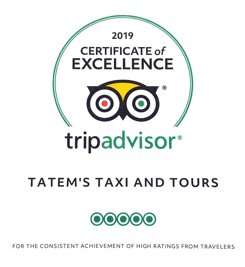 Certificate of Excellence - Trip Advisor - 2019